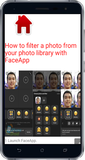 how to change face in video android