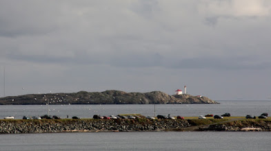 Photo: Here's a shot of the Trial Island Lighthouse offshore from Clover Point in Victoria, British Columbia, Canada  I'm now heading out my friend's door to catch two buses, a ferry, and a bus, on my way back to the Sunshine Coast to see how my Gramps is doing. I hope you all have a grand and wonderfilled day!  Thanks for all of your support and encouragement, and for sharing the world you encounter with me :)