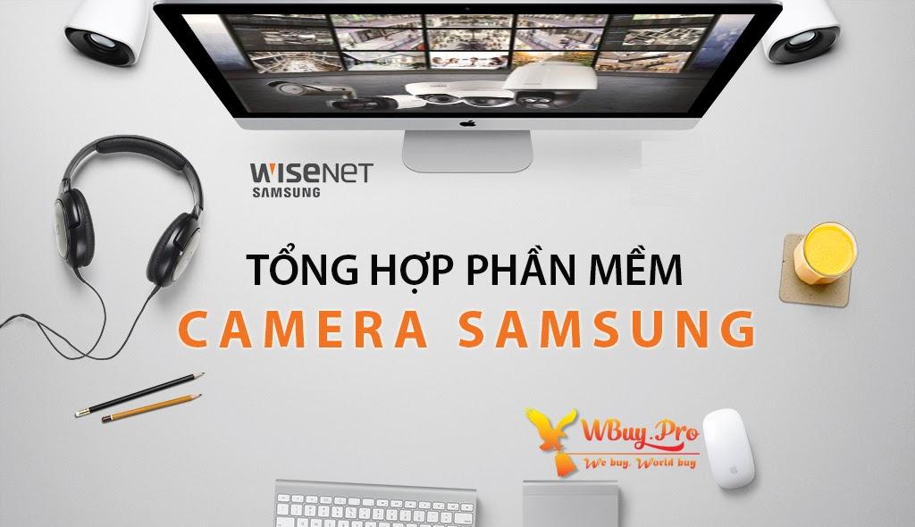 Download phần mềm dành cho camera quan sát Samsung