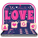 Pink Graffiti Love Heart Theme icon