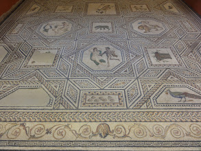 Photo: Dionysos floor mosaic (Dionysosmosaik) from the Roman age.