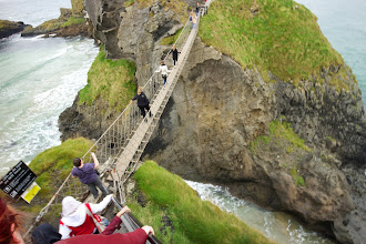 Photo: Carrick-a-Rede rope bridge  Built by fishers to make it easier to get to this island easier. Not as scary as everyone made it out to be. Beautiful views, and the water was very clear.