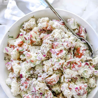 Easy Creamy Dill Potato Salad.