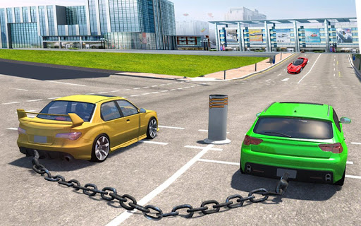 Chained Cars Against Bollard 1.0 screenshots 1