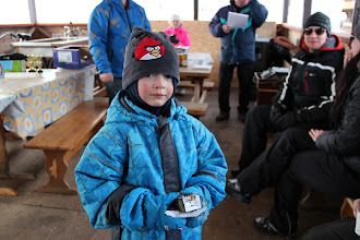 Photo: Lasten pulkkakisan kolmas: Joona Makkonen