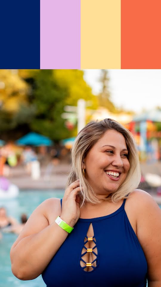 Poolside Palette - Facebook Story Template