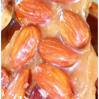 Low Carb Salted Caramel Almond Brittle.