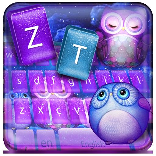 Kawaii cute owl keyboard