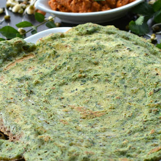 Mixed Sprouts Coriander Dosa With Idli Dosa Batter.