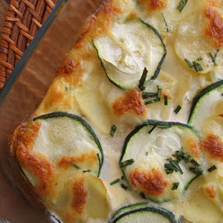 Gratin Potatoes and Zucchini.
