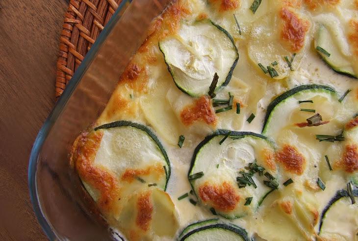 Gratin Potatoes and Zucchini Recipe