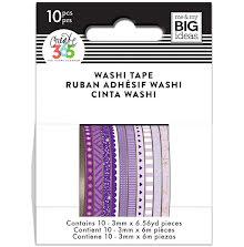 Me & My Big Ideas Happy Planner Skinny Washi Tape - Purple Hues