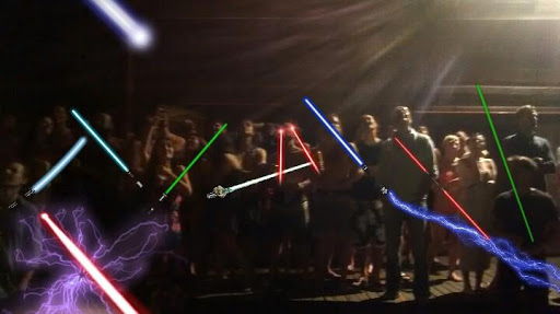 Lightsaber and laser stickers