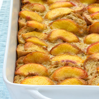 Overnight Peach French Toast
