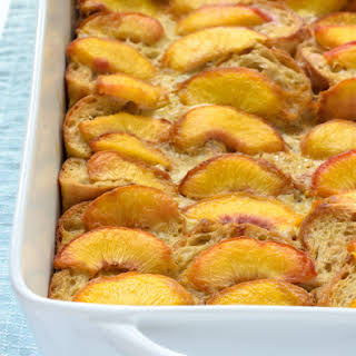 Overnight Peach French Toast.