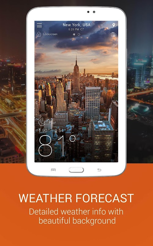 Weather app screenshots