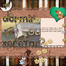 """Photo: My Little Dog by ScrapDesafios Large Templates by ScrapDesafios Polka Dots Alphabet by Lili """"Ou"""" and """"?"""" - Secrets and Dreams by Lili Font Forte PS CS5"""
