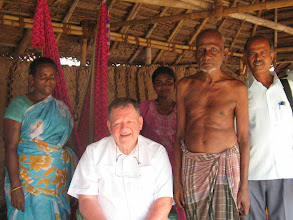 Photo: Rev fr williams with leprosy affected     families