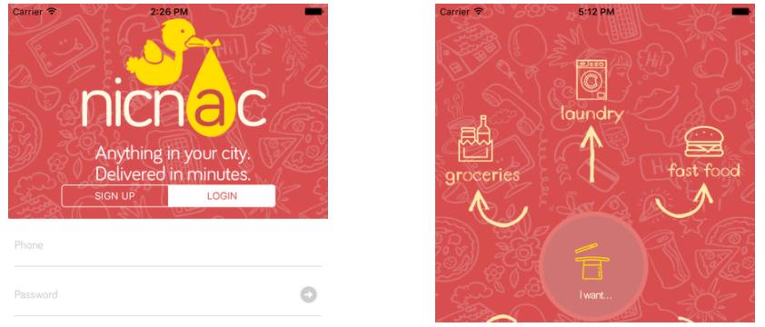Nicnac  App Landing page