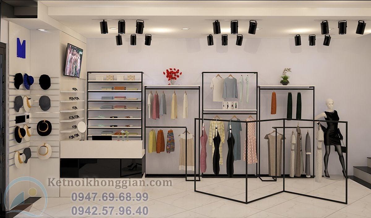 thiết kế shop thời trang nữ gọn gàng đẹp đẽ