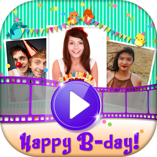 Photo Slideshow with Music - Create Birthday Cards