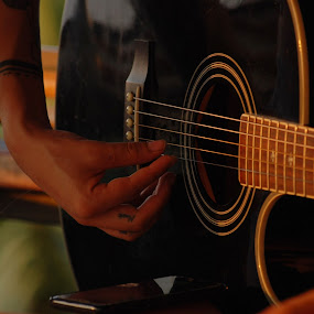 by Pixie Simona - Artistic Objects Musical Instruments ( musical instrument, band, musical, guitarist, guitar, golden hour,  )