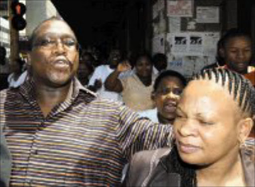 CONTROVERSIAL COUPLE: Thuso Motaung and his wife Mmamontha. © Sowetan.