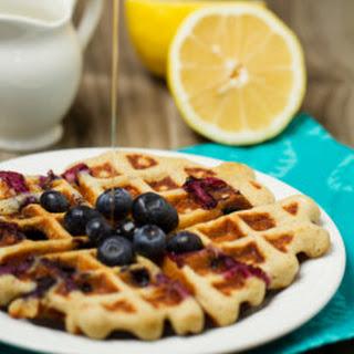 Blueberry Lemon Buttermilk Waffles.