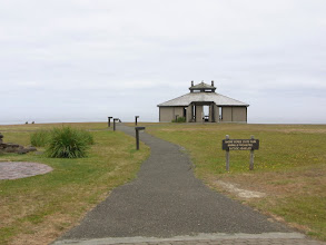 Photo: Observation building at Shore Acres State Park