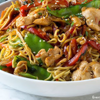Chicken Stir-Fry with Noodles.
