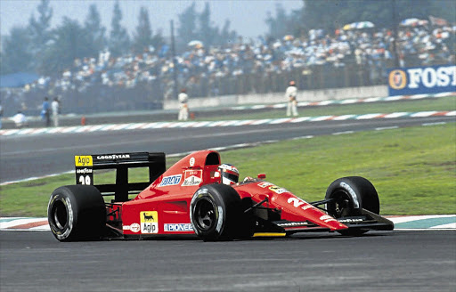 The car in action with Jean Alesi at the wheel