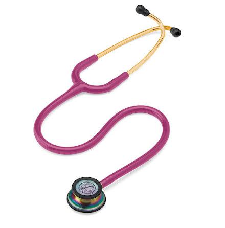 Littmann Classic III Stethoscope Raspberry W-Rainbow Chestpiece
