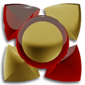 3D RED GOLD Next Launcher icon