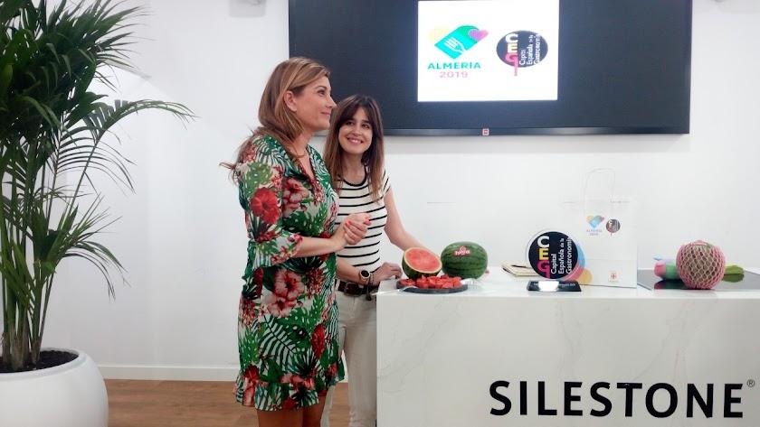 Isabel Jiménez, esta mañana en la sede de Almería 2019.