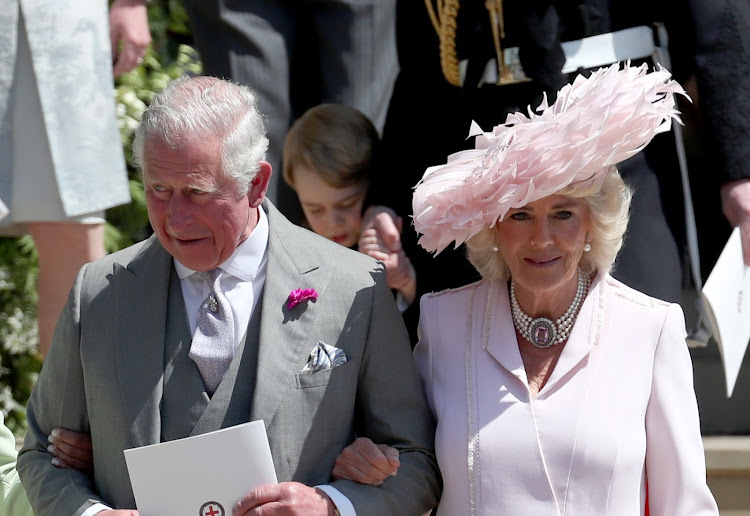 The hat Camilla, Duchess of Cornwall, wore to Prince Harry and Meghan Markle's wedding was designed by Philip Treacy.
