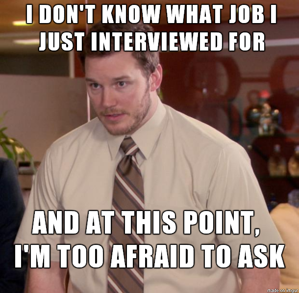 job interview candidate forgot where they were interviewing