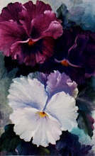 Photo: KP11 Large Pansies (for 12 x 24 canvas) $6.99
