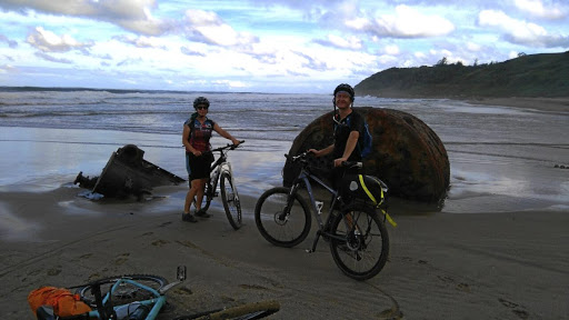 Between the sea and sky: Riding bicycles along the shore on pristine stretches of the Wild Coast offers unique and exhilarating experiences. Picture: SUPPLIED