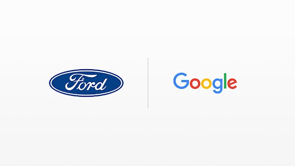 Ford logo and Google logo