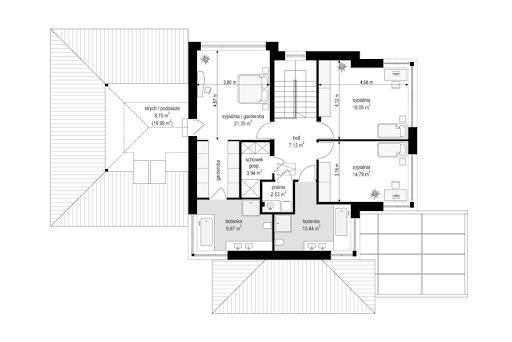 Dom z widokiem 6 B - Rzut piętra