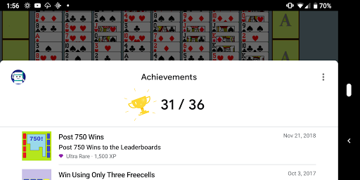 FreeCell with Leaderboards 74.8 screenshots 12
