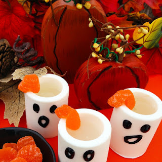 Edible Ghost Shot Glasses with Marshmallow Infused White Rum Recipe
