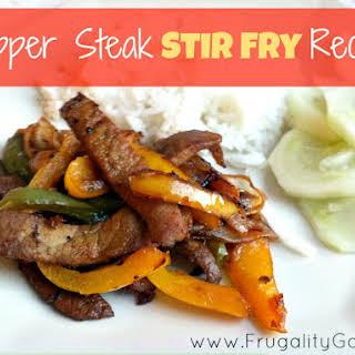 Pepper Steak Stir Fry.