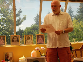 Photo: hanuman speaks about living consciously at our open house