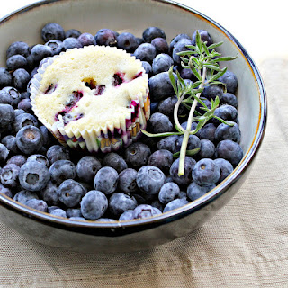 Blueberry, Lime and Thyme Pound Cake Muffins.