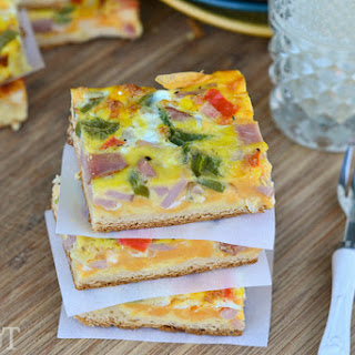 Ham and Cheese Breakfast Bars