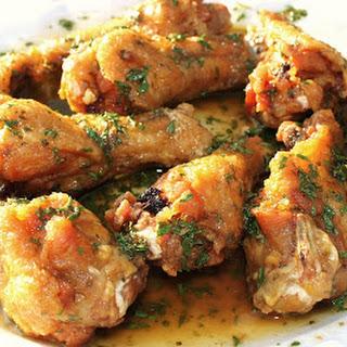 Lemon Garlic Chicken Wing.