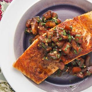 Italian Salmon with Tomato Basil Salsa.