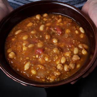 White Bean, Chickpea, and Tomato Stew (Pressure Cooker).