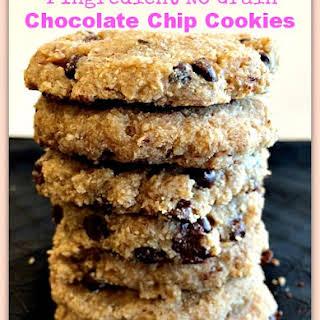 4 Ingredient No Grain Chocolate Chip Cookies.